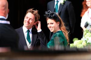 Princess Beatrice and Mr Edoardo Mapelli Mozzi attending the wedding of singer Ellie Goulding to Caspar Jopling
