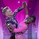 Love Islander Yewande Biala and pro Dancer Stephen Vincent pictured during the third live show of Dancing with the Stars. Photo: Kyran O'Brien Photography/kobpix