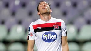 David McMillan sums up Dundalk's reaction to their Champions League exit. Photo: Sportsfile