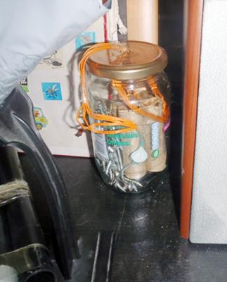 Nail bomb found in Ryan McGee's bedroom. Photo: Greater Manchester Police/PA