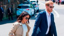 Prince Harry, Duke of Sussex and Meghan, Duchess of Sussex depart after visiting Taronga Zoo on October 16, 2018 in Sydney, Australia