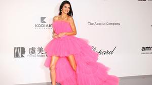 Model Kendall Jenner poses for photographers upon arrival at the amfAR, Cinema Against AIDS, benefit at the Hotel du Cap-Eden-Roc, during the 72nd international Cannes film festival, in Cap d'Antibes, southern France, Thursday, May 23, 2019. (Photo by Joel C Ryan/Invision/AP)
