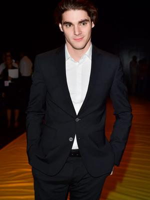 RJ Mitte attends the Dsquared2 show during the Milan Men's Fashion Week Spring/Summer 2016 on June 23, 2015 in Milan, Italy.  (Photo by Stefania D'Alessandro/Getty Images)