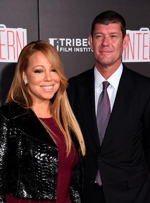 """Mariah Carey and James Packer attend """"The Intern"""" New York Premiere at Ziegfeld Theater on September 21, 2015 in New York City.  (Photo by Dimitrios Kambouris/Getty Images)"""