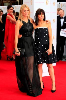 LONDON, ENGLAND - MAY 10:  Tess Daly and Claudia Winkleman attend the House of Fraser British Academy Television Awards (BAFTA)  at Theatre Royal on May 10, 2015 in London, England.  (Photo by John Phillips/Getty Images)