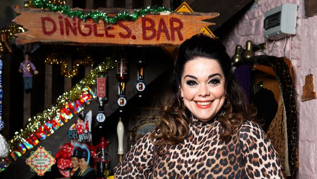 Handout photo issued by ITV of Lisa Riley playing Mandy Dingle (ITV)