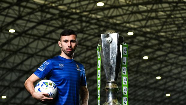 5 February 2020; Waterford's Robbie McCourt at the launch of the 2020 SSE Airtricity League season at the Sport Ireland National Indoor Arena in Dublin. Photo by Harry Murphy/Sportsfile