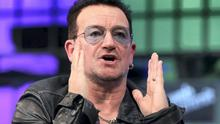 IRELAND'S CALL: Bono, top, speaking at the recent Web Summit, has said that he has used his contacts with people like Facebook's Sheryl Sandberg, left, to further the cause of foreign investment in Ireland.