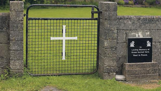 Memorial: site of the mass grave in Tuam – there are many other burial grounds in Ireland. Photo: Niall Carson.