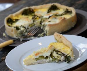 Rustic Chicken Mozzarella Quiche