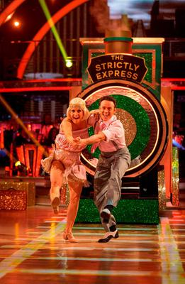 Kellie Bright and Kevin Clifton during the final of Strictly Come Dancing. Guy Levy/BBC/PA Wire