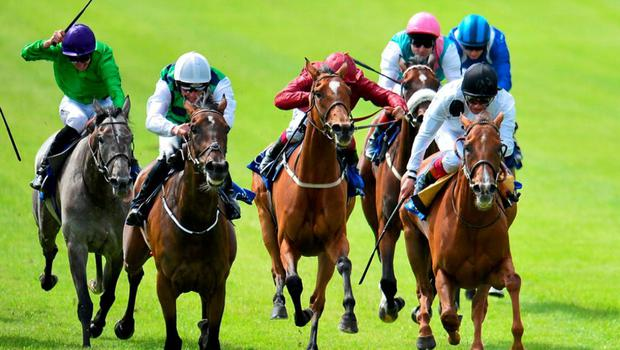 Diamondsandrubies, second from left, with Seamie Heffernan up, on their way to winning the Sea Stars Pretty Polly Stakes. Curragh Derby Festival. The Curragh, Co. Kildare. Picture credit: Cody Glenn / SPORTSFILE