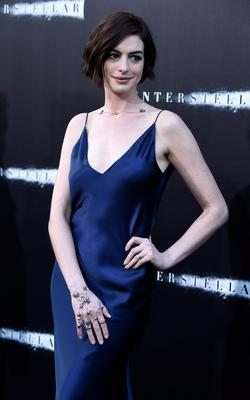 """Actress Anne Hathaway attends the premiere of Paramount Pictures' """"Interstellar"""" at TCL Chinese Theatre IMAX"""