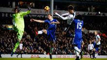 Dele Alli scores his and Tottenham's second goal at White Hart Lane last night. Photo: Andrew Couldridge/Action Images via Reuters