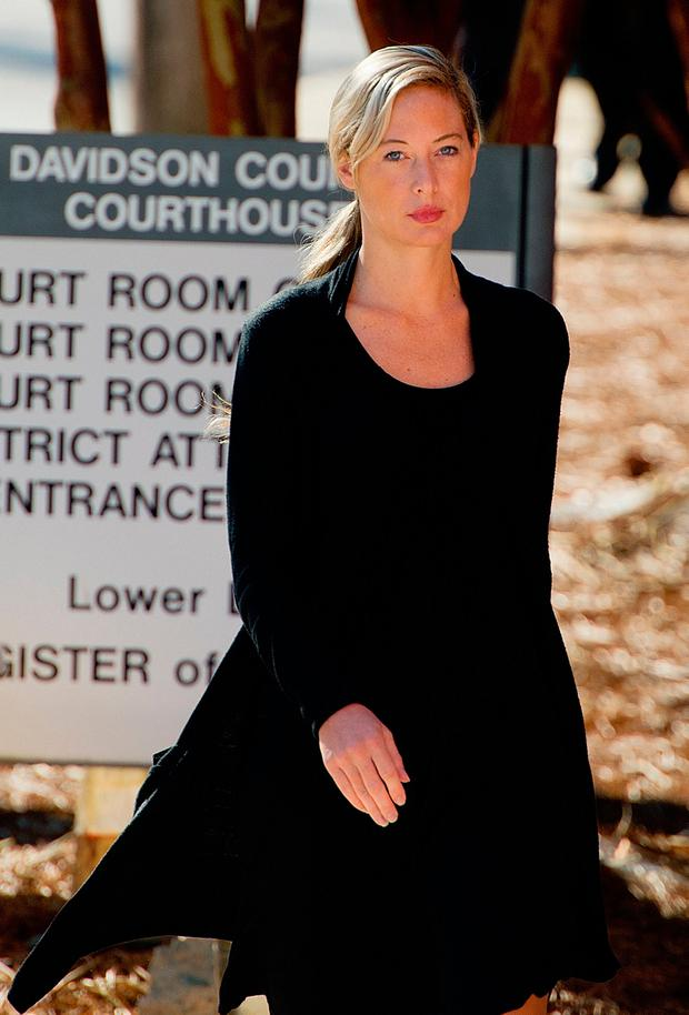 Molly Martens-Corbett arrives at the Davidson County Courthouse Photo: Donnie Roberts/The Dispatch