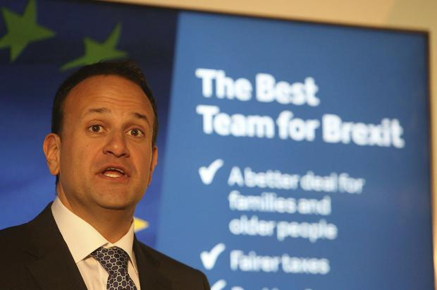 Taoiseach Leo Varadkar pictured at Fine Gael's election manifesto launch in Dublin this afternoon..Picture Gareth Chaney / Collins Photos