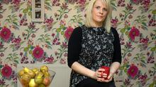 Terrorised and helpless: Michelle Kinehan in her home in Tallaght. Photo: Tony Gavin