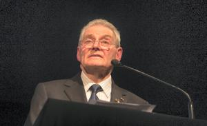 Tomi Reichental during The Holocaust Memorial Day Commemoration at the Mansion House, Dublin. Photo:  Gareth Chaney Collins