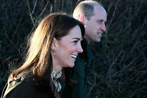 The Duke and Duchess of Cambridge during a visit to Howth Head near Dublin, as part of their three day visit to the Republic of Ireland. PA Photo; Brian Lawless/PA Wire