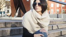 Cream wrap scarf, €17.95; watch, €32.95; pumps, €24.95; brown tote, €39.95; sunglasses, €17.95; double ring, €5.99; ring back, €6.95