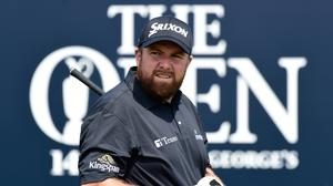 Shane Lowry during a practice round at the 149th British Open Championship at Royal St George's, Sandwich. Photo: Reuters/Rebecca Naden