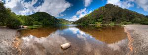 Panoramic view over the Upper Lake at Glendalough, Co. Wicklow