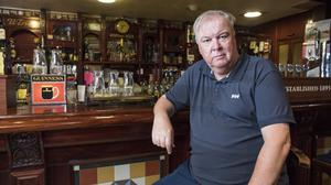 Publican John Byrne at his pub Byrnes in Dundalk. Picture: Arthur Carron