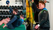 Iain Henderson and Tadhg Furlong trained fully today