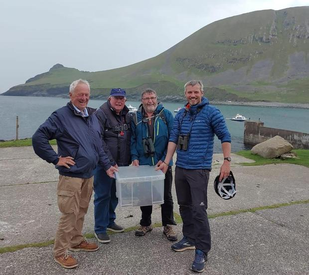 Kevin Lagan and the crew of the Lady Kate prepare to bring Declan  home
