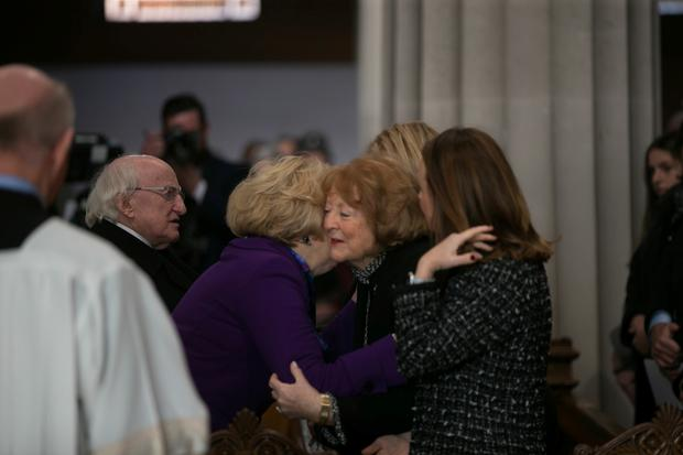 President Michael D Higgins and Sabina offer their condolences to Gay Byrne's wife Kathleen, daughters Crona and Suzy and grandchildren.