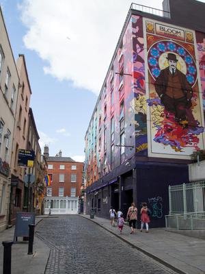 Cope Street, Temple Bar, where a man in his 30's was stabbed a number of times last night and is in a critical condition at St James' Hospital. 28/6/2015  Picture by Fergal Phillips