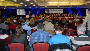 Delegates at The Teachers' Union of Ireland (TUI) Annual Congress which is taking place in the Clayton Hotel, Galway