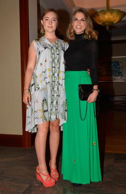 Saoirse Ronan and Amy Huberman at the annual ISPCC luncheon in 2015