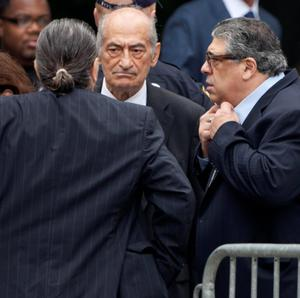 Actor Vincent Pastore (R) arrives at the Cathedral Church of St. John The Divine REUTERS/Carlo Allegri