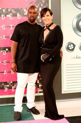 Corey Gamble (L) and tv personality Kris Jenner attend the 2015 MTV Video Music Awards at Microsoft Theater on August 30, 2015 in Los Angeles, California.  (Photo by Frazer Harrison/Getty Images)