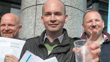 Paul Murphy TD (front) has been to the fore in the campaign against water charges