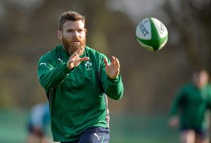 Ireland's Gordon D'Arcy in action during squad training