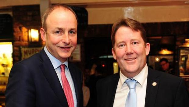 The newly-appointed Minister for Housing,Darragh O'Brien TD (right) with Taoiseach, Micheál Martin
