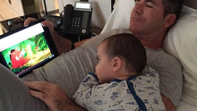 Simon and baby Eric. Picture:Twitter/@SimonCowell