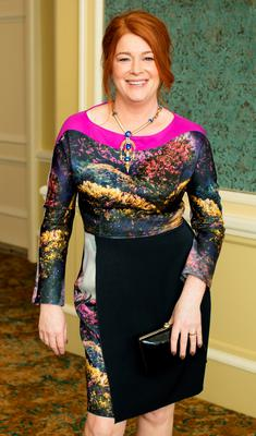 Blathnaid Ni Chofaigh at the annual ISPCC Brown Thomas Fashion Show and Luncheon at the Intercontinental Hotel in Ballsbridge. Picture: Anthony Woods