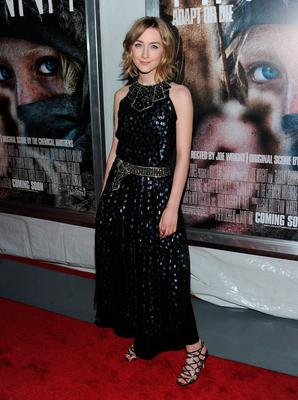 "Actress Saoirse Ronan attends the New York screening of ""Hanna"" at Regal Union Square on April 6, 2011 in New York City.  (Photo by Jason Kempin/Getty Images)"