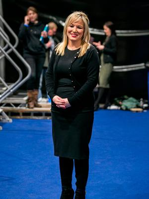 Sinn Fein Leader in the North Michelle O'Neill at the Titanic Exhibition Centre, Belfast for the Northern Ireland Election count. Liam McBurney/PA Wire