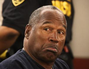 O.J. Simpson appears during a evidentiary hearing in Clark County District Court May 13, 2013 in Las Vegas, Nevada.