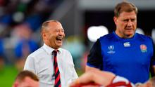England's head coach Eddie Jones during the pre match warm up before the 2019 Rugby World Cup Semi Final match against New Zealand at International Stadium Yokohama. Ashley Western/PA Wire.