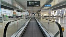 The scene at Dublin Airport on Saturday morning