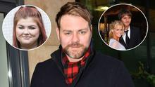 Brian McFadden, centre, left, daughter Molly and right, Brian with ex-wife Kerry Katona