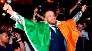 Conor McGregor attends his after fight party and his Wynn Nightlife residency debut at the Encore Beach Club at Night at Wynn Las Vegas on August 27, 2017 in Las Vegas, Nevada. Photo: David Becker/Getty Images for Wynn Nightlife