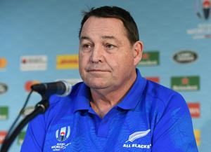 New Zealand's head coach Steve Hansen looks on. REUTERS/Annegret Hilse