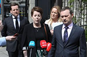 Ordeal: Ruth Morrissey and her husband Paul leave the Four Courts after a High Court judgment. Photo: Collins Courts