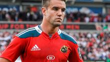 Conor Murray limped off during the first half of Munster's win over Ospreys at Thomond Park after suffering a suspected medial collateral knee ligament injury